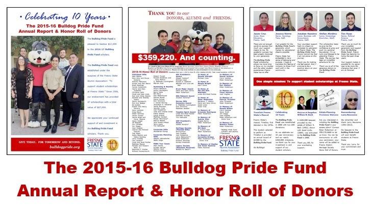 2015-16 Bulldog Pride Fund Annual Report